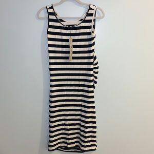 Imanimo Striped Cotton Maternity Dress